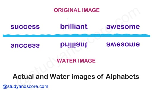 Figure based water image, number  based water image, alphabet based water image, alphanumeric water image, nonverbal reasoning