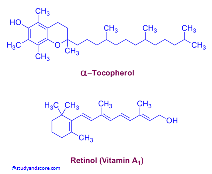 structure of vitamin A, alpha tocopherol, vitamin A, sources of vitamin A, deep yellow fruits and vegetables, milk, egg, dark green leafy vegetables